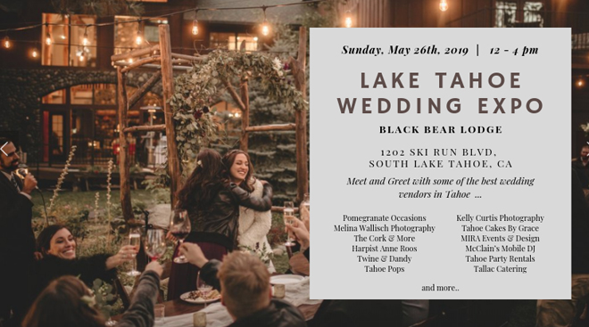 Lake Tahoe Wedding Event Reminder
