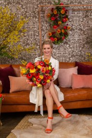 Gown from Second Summer Bride; Earrings by Mariell; Shoes from DSW; Bouquet by Paradise Parkway Event Productions with wholesale flowers from Fiftyflowers.com; Hair by Lisa Harter Hair and Makeup Artist; Makeup by Happily Beautiful Makeup Artistry & Skin Studio. Photography by Farrell Photography on location at Hotel Sutter.