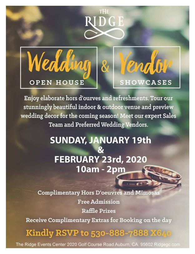 The Ridge Open House | Auburn Wedding Venue | | Sacramento Bridal Show | Find Your Wedding Vendors