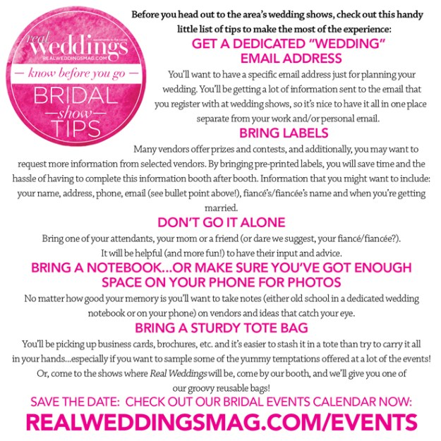 Sacramento Bridal Show | Sacramento Wedding Show | Northern California Weddings | Tahoe Weddings | Bridal Show Tips | Know Before You Go!