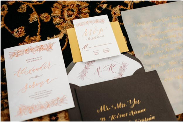 Invitations-Wedding Paperie-Moody Styled Shoot Elopement-Sacramento Tahoe Wedding Photography