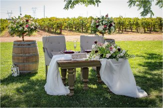 Victoria Darrell Kristina Cilia Photography McConnell Estates Winery Casual Outdoor Wedding