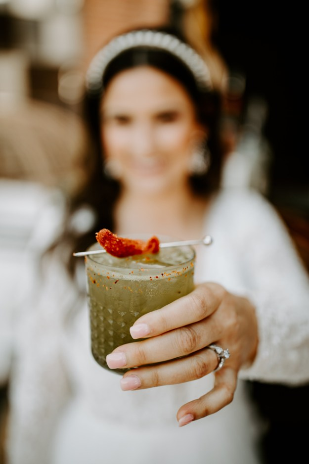 Signature Wedding Cocktail | National Tequila Day | Matcha Margarita | Salud Mobile Bar