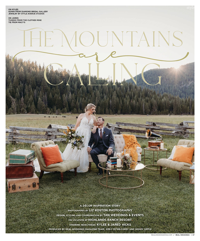 Sacramento Tahoe Lassen Forest Styled Shoot | LIz Koston Photography | Tan Weddings & Events | Real Weddings Magazine