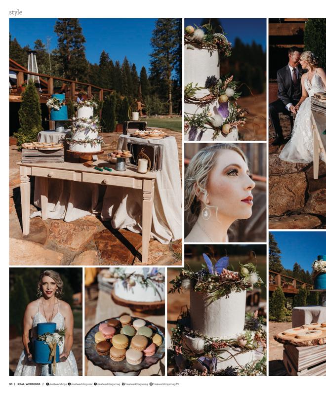 Sacramento Tahoe Lassen Forest Styled Shoot | Savannahs Savory Sweets | Olgas Rustic Rental | Real Weddings Magazine
