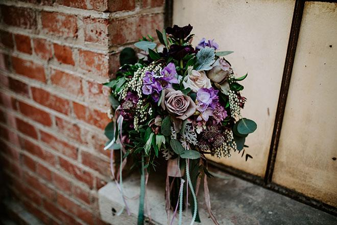 Strelitzia Flower Company Davis Florist Purple Pastel Wedding old Sugar Mill James Young Photography
