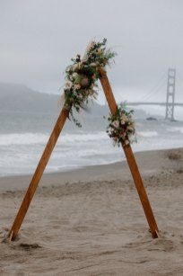Moody Beachy Windy San Francisco Elopement at Baker Beach