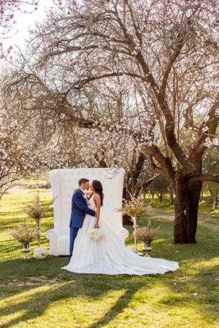 Romantic Sunset Almond Blossom Orchard Wedding Taber Ranch Capture Create Studios