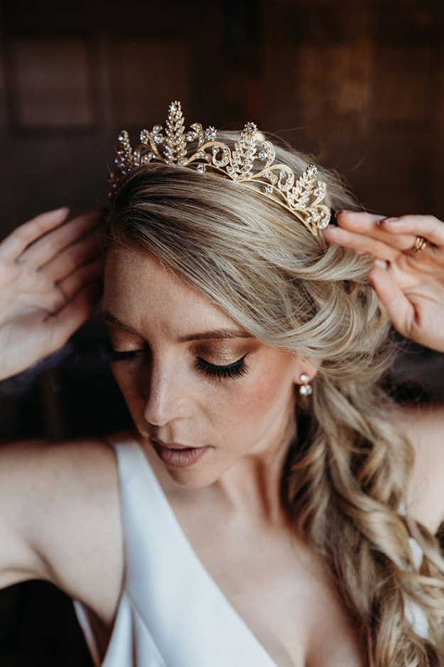 Wedding Tiara Jewelry Sacramento Luxurious Bridal by Liz Koston Photography