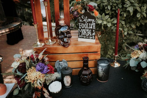 Spooky Halloween Wedding Sacramento Streltizia Flower Company Real Weddings Magazine