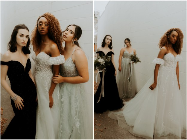 Sacramento New Year's Eve-Inspired Bridal Bridesmaids Sparkly Styled Shoot | Wedding Hair and Makeup
