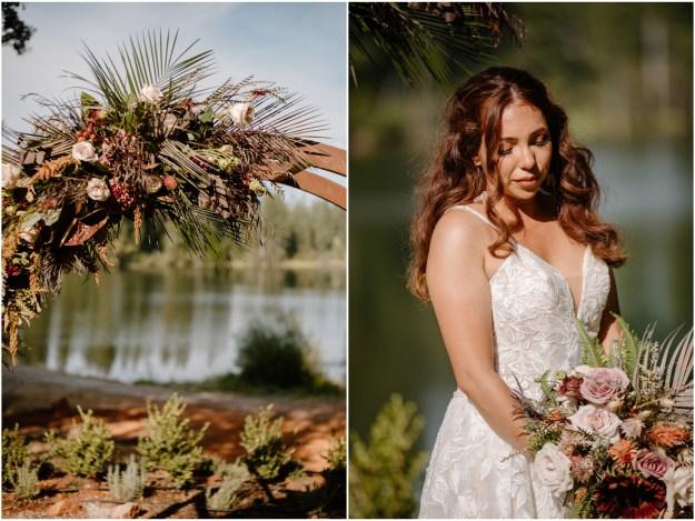 Fall Inspired Minimony MIcro Wedding Styled Shoot | Destination Boho Bridal Hair and Makeup