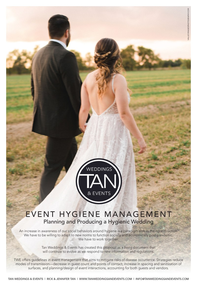 Tan Weddings & Events - Event Hygiene Management - Planning and Producing a Hygienic Wedding
