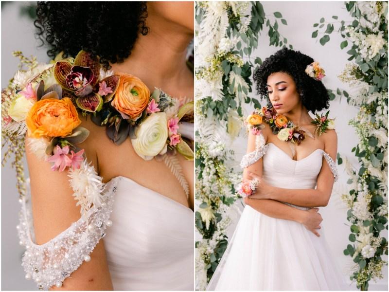 Bridal Bouquet Lush Altar - Sacramento Wedding Styled Shoot - Flourish - Bloom Phtoography