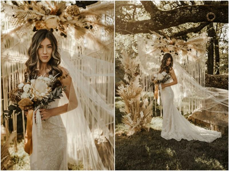 Boho Sacramento Wedding Flowers Bride