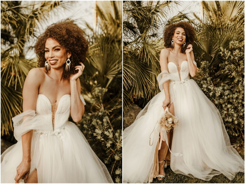 Boho Sacramento Wedding Bridal Hair Makeup Artist