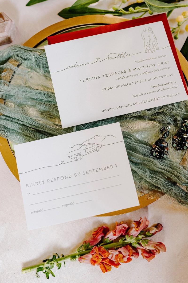 Natacha Jolene Photography + Film Full Circle Press Paperie Stephanie Sobierski Illustrator Wedding Invites Sacramento