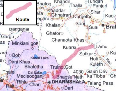 Chamba Valley Trek Route1