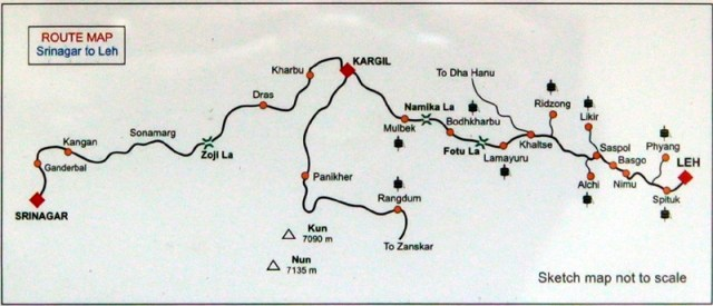 kargil route map