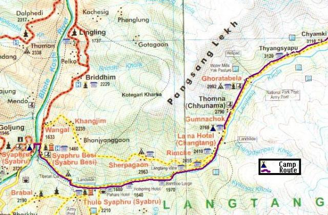 Langtang Trek Route Part 1