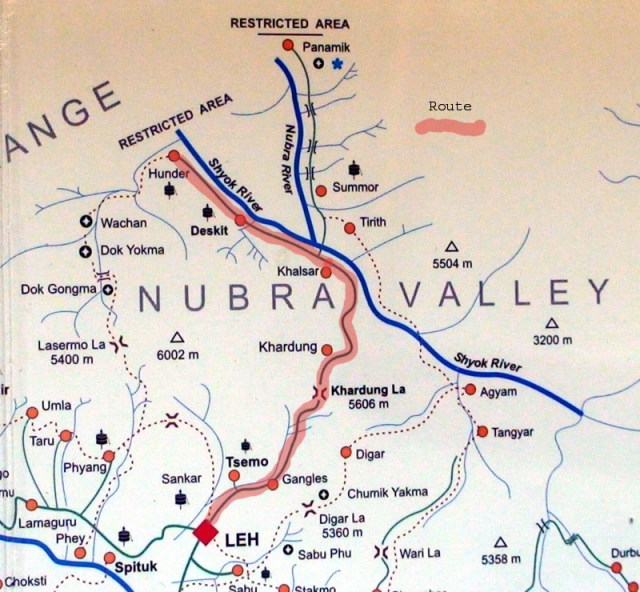 nubra valley map