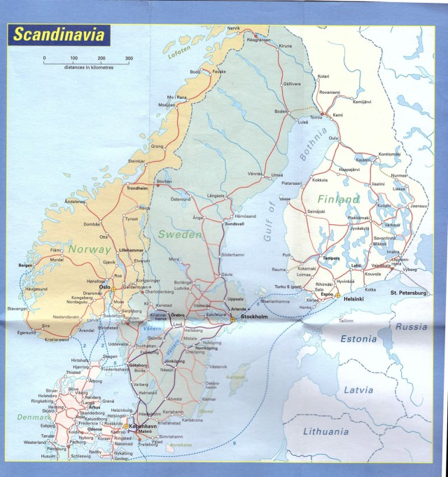 Scandinavia Rail map