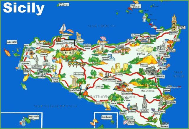 sicily-tourist-map