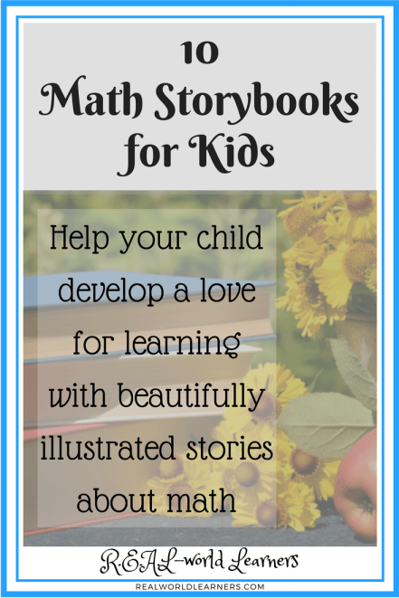 10 math story books for kids -- a list of living books that combine math and literature with a love for learning