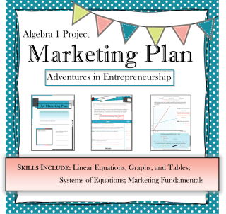 collaborative lesson plan to help students apply algebra to a DIY business plan
