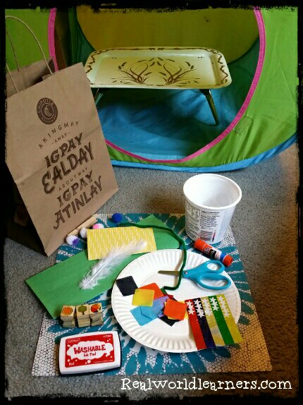 craft station activity | Create-a-Creature Kiosk | DIY craft kit with creative challenges for kids