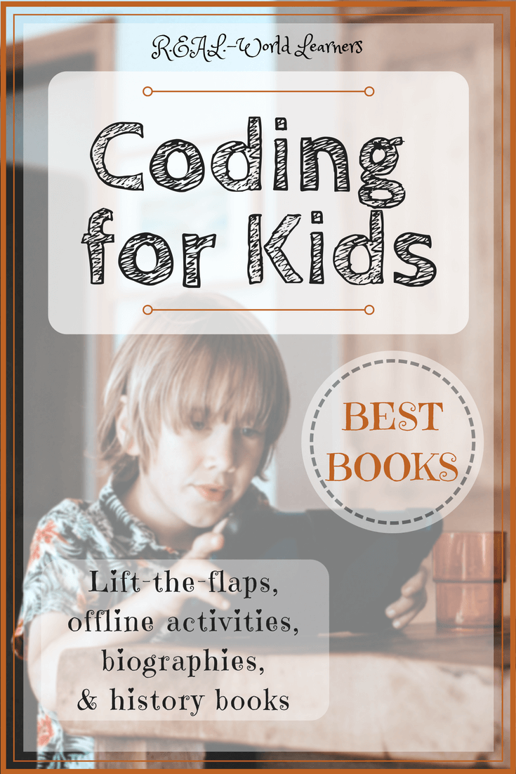 Coding books for kids - interactive, entertaining, project-filled books for a full unit study on computers and coding