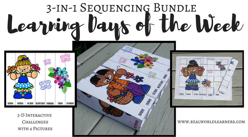 Days of the Week: 3-in-1 Sequencing Activities