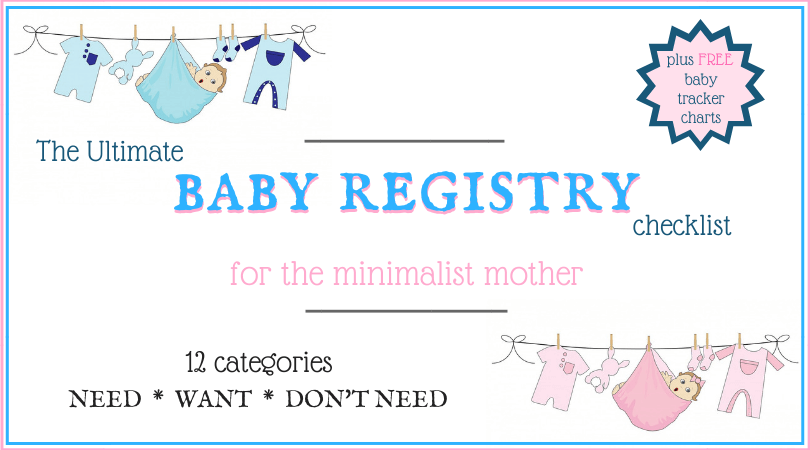 Baby registry checklist with a free baby tracker