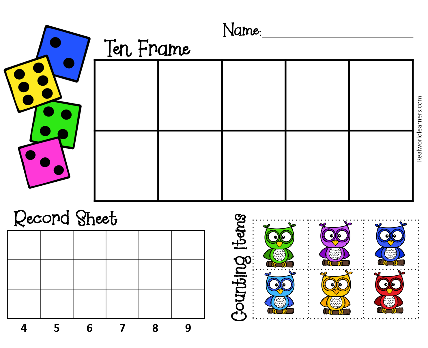 Ten Frame Toolkit R E A L World Learners