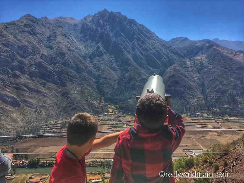 Sacred valley with kids views