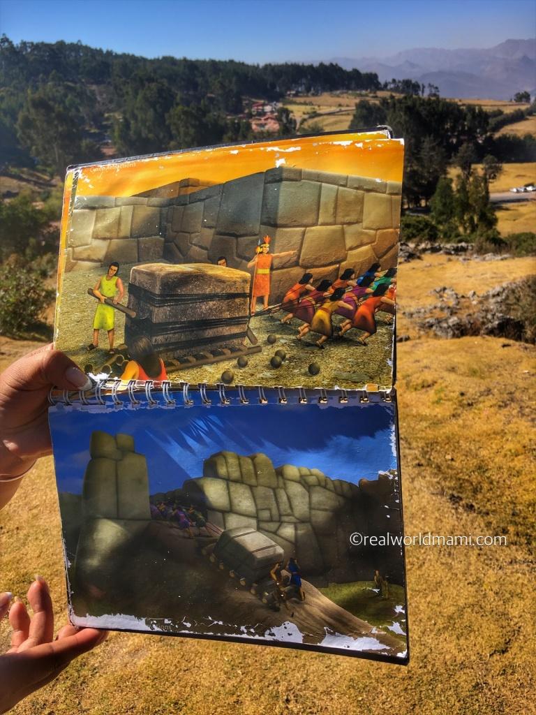 Visiting Sacsayhuaman with family
