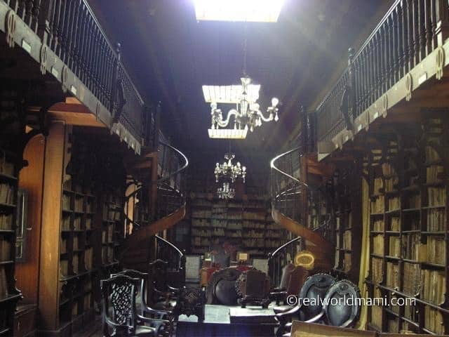 Peru with kids: Monastery of San Francisco Library