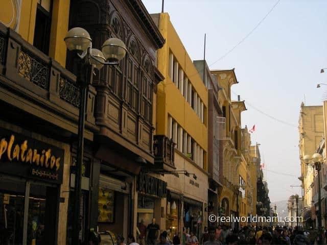 Lima Peru Jiron de la Union one of favorite locals spot