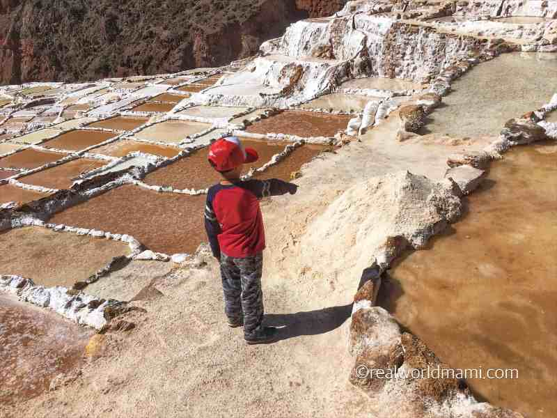 Exploring Cusco with kids, Maras Salt Ponds