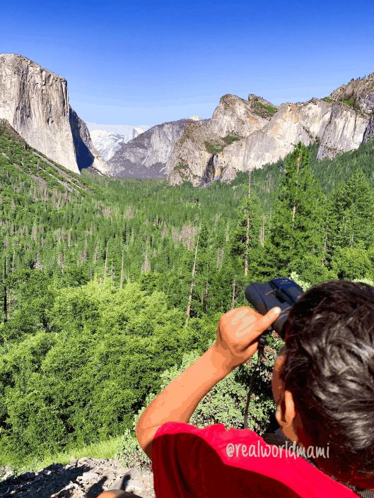 Tunel View Yosemite family trip