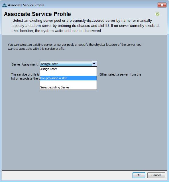 "Select ""Pre-provision a slot"""