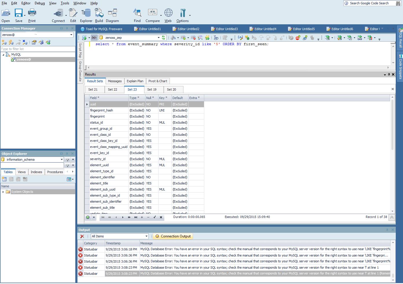 Perf Mon MySQL