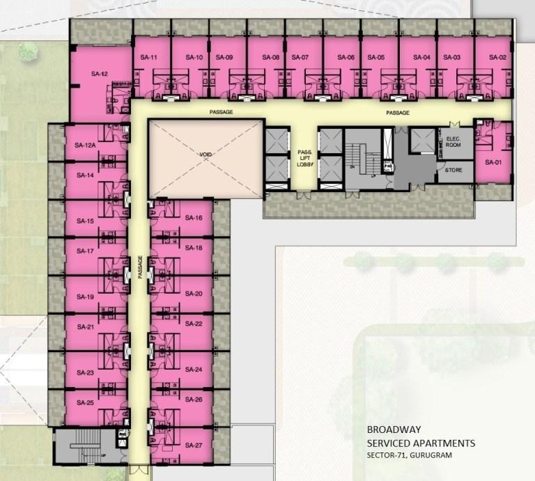 M3M Sky Lofts Gurgaon, Sector-71 Floor Plan, Location Map