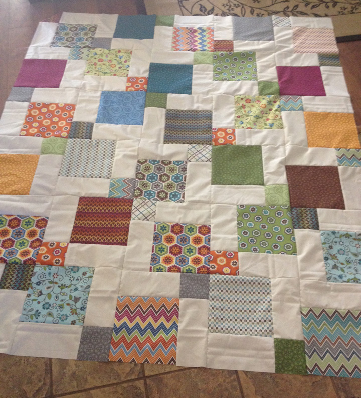 Disappearing 9-Patch with Layer Cakes : queen size quilts - Adamdwight.com