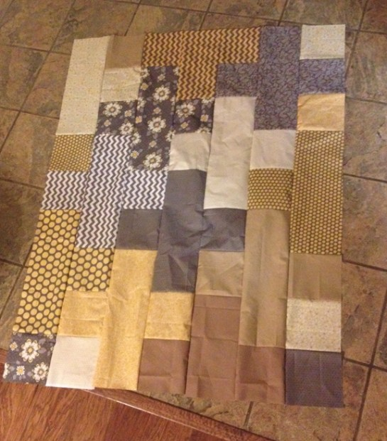 Plus Quilt Yellow | ReannaLily Designs