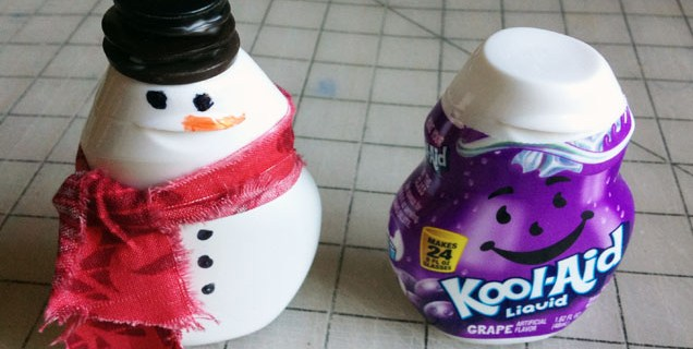 Kool-Aid Liquid Snowman Craft Tutorial