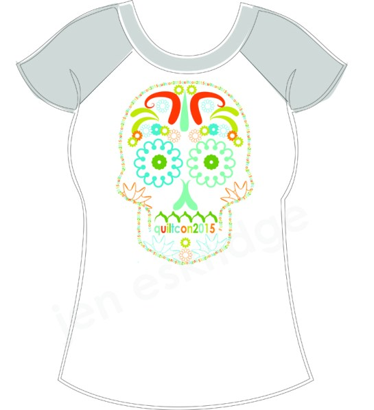 QuiltCon T-Shirt Contest | ReannaLily Designs | Sugar Skull | Full-Color