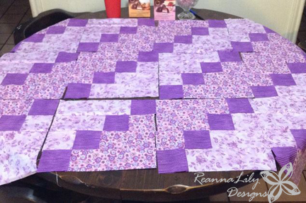 Strip-Pieced Diagonal Quilt Tutorial by ReannaLily Designs