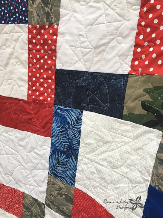 Disappearing 9-Patch with Layer Cakes | Military Uniform Quilt | Jen Eskridge | ReannaLily Designs | ReannaLily Quilts