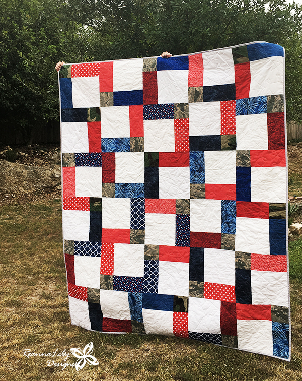 Disappearing 9-Patch with Layer Cakes   Military Uniform Quilt   Jen Eskridge   ReannaLily Designs   ReannaLily Quilts